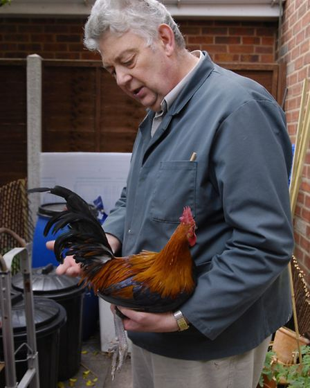 Dave Hackett with an Oxford cock