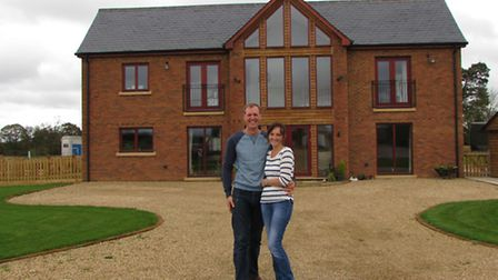 Jo and James... and their labour of love, the eco house