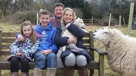 Leanne Edwards with her husband Richard and children, Tom, 12, and Lily 7