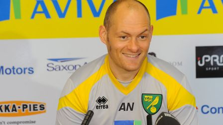 Norwich City Football Club press conference with manager Alex Neil before new signing Ivo Pinto was