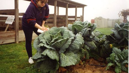 Katie Thear with some giant veg