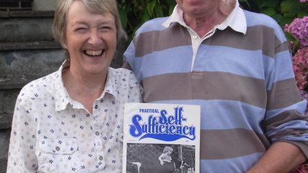 Roger and Alison Parmley display PSS no. 29 featuring their daughter Katherine on the front cover