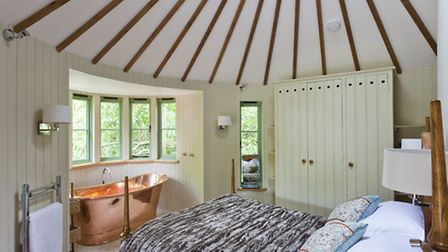Inside the Harptree Court treehouse