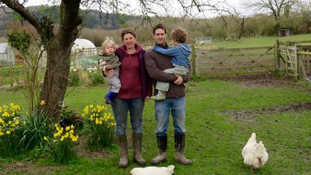 Hannah Allen and her family