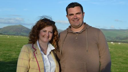 Donald presents a BBC TV programme in Gaelic. He is pictured here with co-presenter Catriona MacPhee
