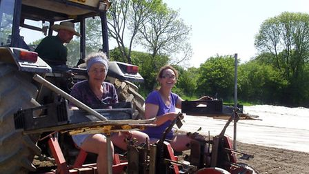Easier work... out on the 'planter'