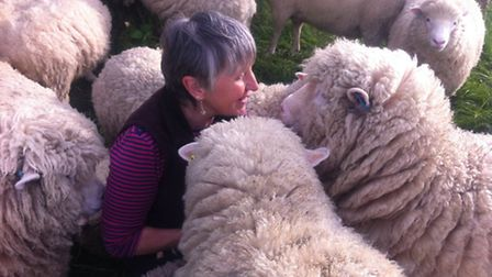 Jane with her flock