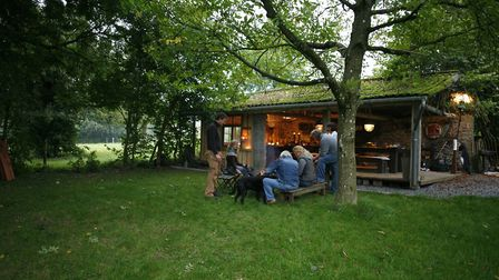 This converted barn makes a great space for relaxing