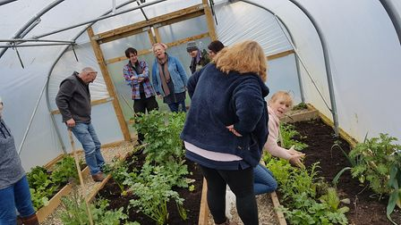 Polytunnel course attendees