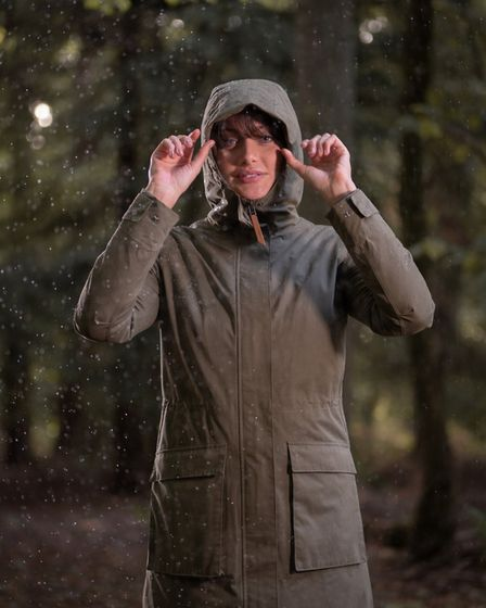 The Canopy coat has a seriously high water-proof rating and a clean, country look