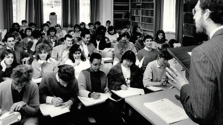 A law lecture at the UEA in 1980