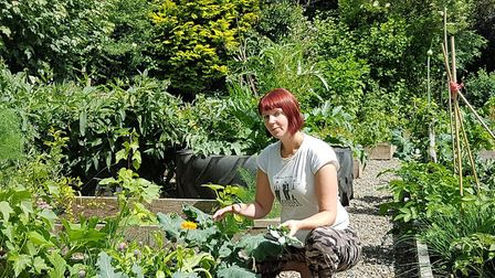 Kim Stoddart pictured in her resilient gardens