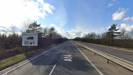The incident happened on the A14 at Stowmarket
