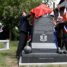 The O's Somme Memorial being unveiled in Flers, northern France, Sunday July, 10, 2011