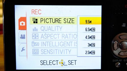 You need to make sure your camera is set to its highest resolution