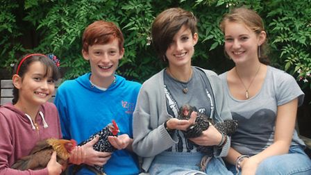 (L-R) Florence, Freddie, Molly and Beatrice