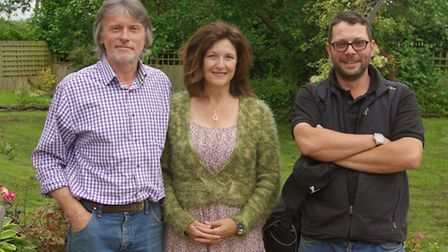 Andy with Nick, left, and his wife Heather