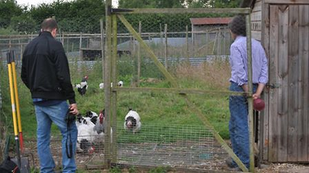 Nick shows Grant some of the breeding stock