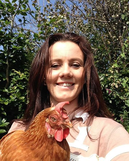 Claire Hodder with one of her birds