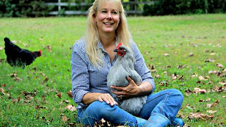 Lisa with Violet in the pasture
