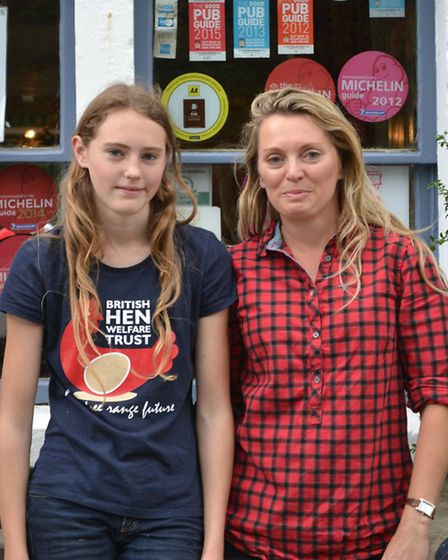 Lauren and her mum, Kate Strong