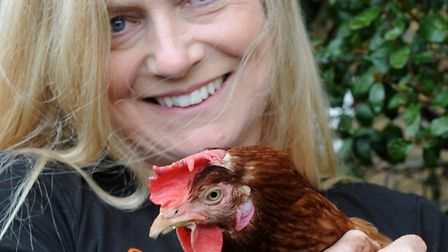Sally Pinnegar with one of her birds