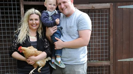 Emily, Robert and Liam with their birds