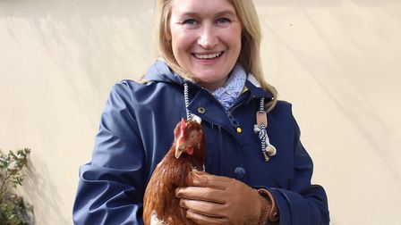 Lizzy with one of her hens