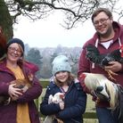 The Graham family with their birds