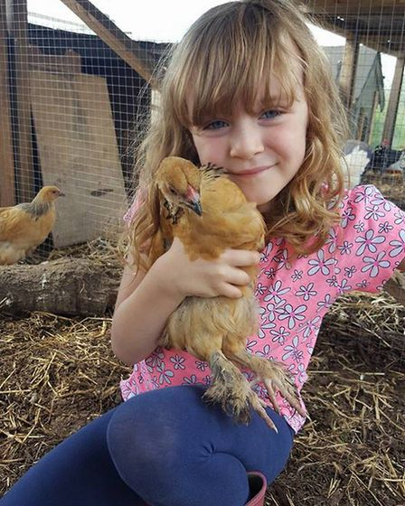 Freya is a chicken addict, like mum and dad