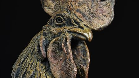 Hamish's sculpture Cockerel Head will be on display at Chelsea Flower Show