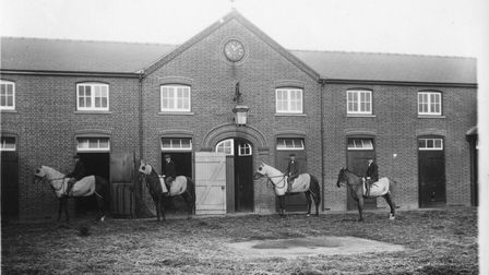 'Newmarket Stable Yards'by H.R. Sherborn (1880-1914)