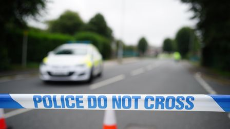 A police cordon in the Keyham area of Plymouth where six people, including the offender, died of gun