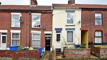 House subsidence on Gertrude Road, Norwich.Picture: ANTONY KELLY
