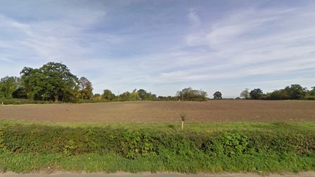 Land off Church Road in Bacton which will be developed for 81 homes
