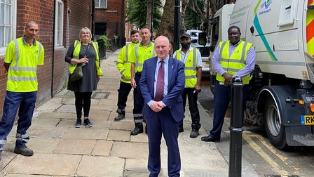 Action squad... the mayor and his street sweepers on the Boundary Estate