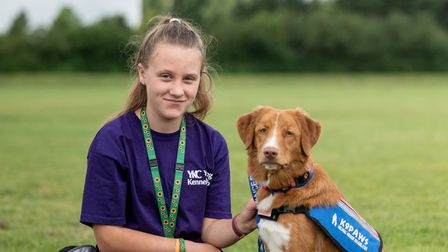15-year-old Emily Rice, from Gorefield, and her Nova Scotia Duck Tolling Retriever, Holly-Mae attended the summer camp