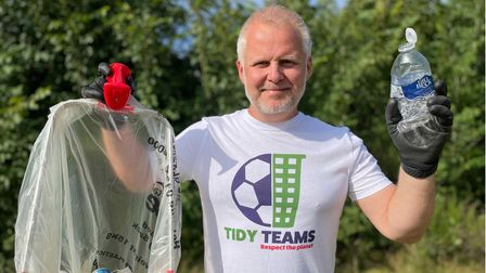 Ipswich's Jason Alexander has set up the Tidy Teams initiative to get football clubs tackling litter