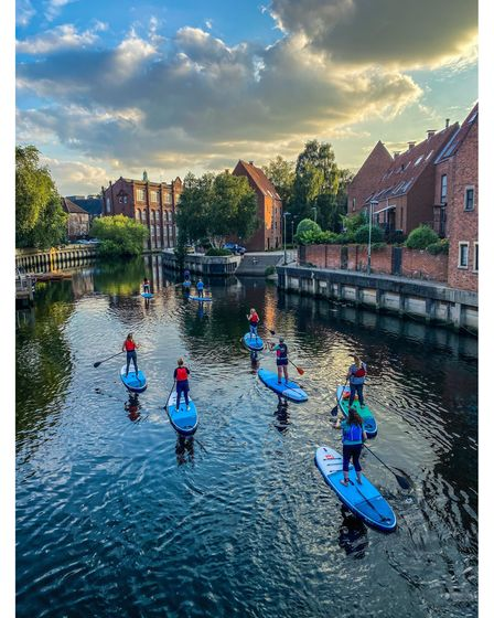Paddleboarding with Norfolk Paddleboards on the River Wensum in Norwich
