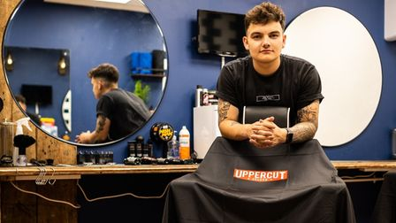 Oli Norman is opening his second branch of On Point Barbers in Long Melford