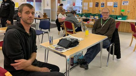 Ricky Daykin (left) and Brian Keeler (right) at First Focus in Fakenham.