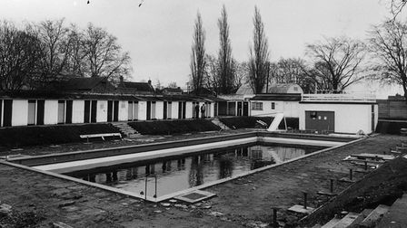 A swimming pool was built by Ely Urban Council in 1934, seen here in 1980