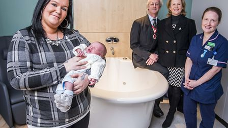 Official opening of the Waterlily Birth Centre at the Queen Elizabeth Hospital by the High Sheriff o