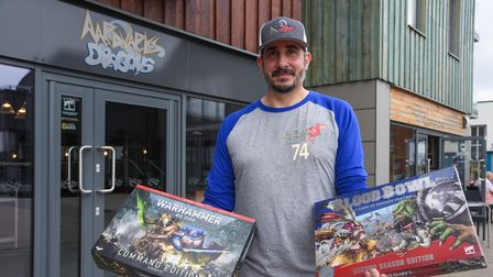 Scott Phipps, owner of new game shop Aardvarks and Dragons in Woodbridge. Picture: Danielle Booden