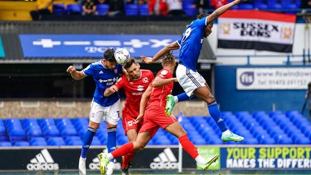 First half action against MK Dons.