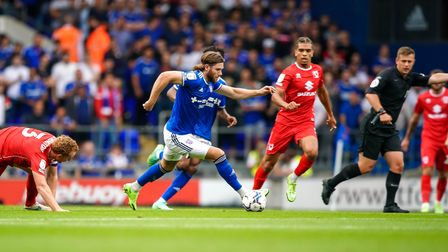 Wes Burns in action against MK Dons.
