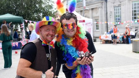 Lee and Casey. Clacton Pride Picture: CHARLOTTE BOND
