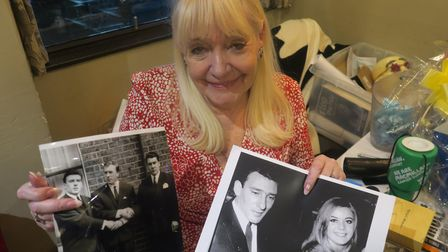 Maureen Flanagan holdingsnapshots of the Kray family who she knew well