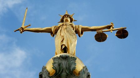 picture shows statue of justice