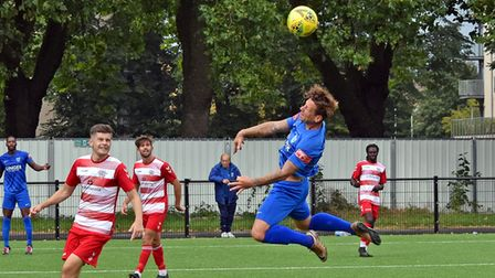A flying header from Barking striker Charlie MacDonald against Ilford in the FA Cup
